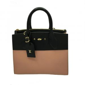 Louis Vuitton Brown/Black Leather City Steamer PM Bag