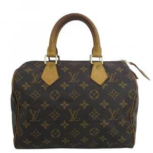 Louis Vuitton Brown Monogram Canvas Speedy 25 Bag