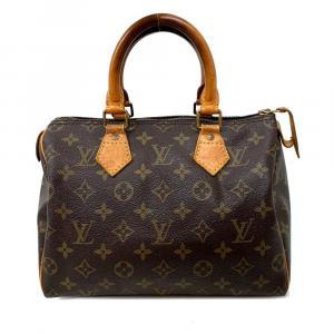 Louis Vuitton Brown Monogram Canvas Speedy 25 Boston Bag