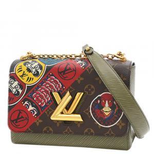 Louis Vuitton Olive Green Epi Leather Kabuki Twist MM Bag