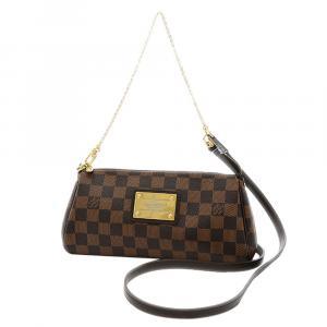 Louis Vuitton Brown Damier Ebene Canvas Eva Clutch Bag