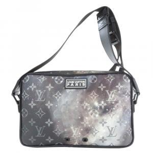 Louis Vuitton Black/Silver Monogram Canvas Galaxy Alpha Limited Edition Messenger Bag