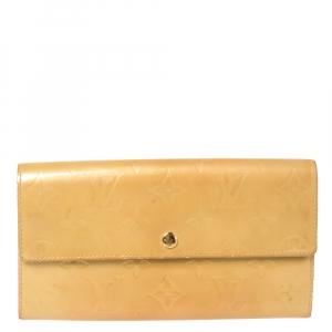 Louis Vuitton Dark Yellow Monogram Vernis Sarah Wallet