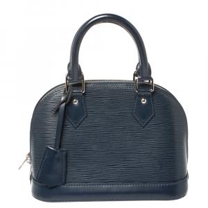 Louis Vuitton Blue Marine Epi Leather Alma BB Bag