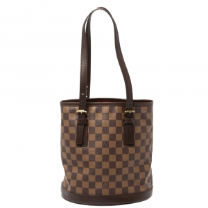 Louis Vuitton Damier Ebene Canvas Marais Bucket Bag