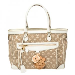 Louis Vuitton White Monogram Limited Edition Sabbia Cabas GM Bag