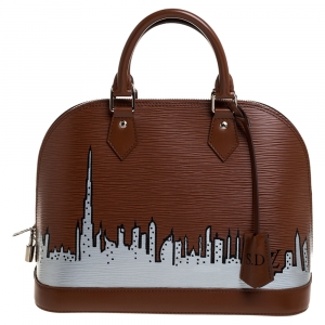 Louis Vuitton Canelle Epi Leather Dubai Skyline Alma PM Bag