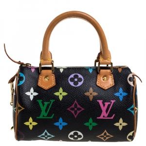 Louis Vuitton Black Multicolore Monogram HL Speedy Bag