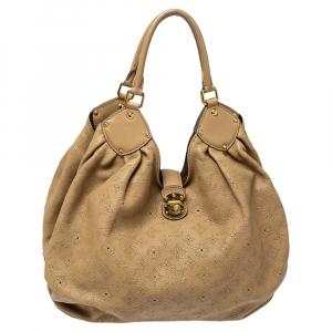 Louis Vuitton Biscuit Monogram Mahina Leather Surya XL Bag