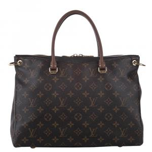 Louis Vuitton Brown Monogram Canvas Pallas Satchel Bag
