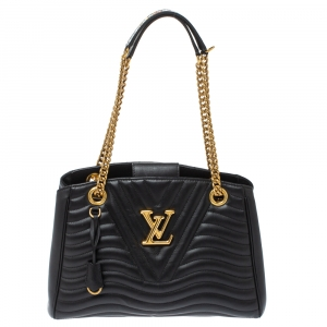 Louis Vuitton Black Quilted Leather New Wave Bag