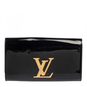 Louis Vuitton Black Vernis Louise Clutch