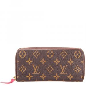 Louis Vuitton Brown Monogram Canvas Zippy Wallet