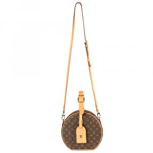 Louis Vuitton Brown Monogram Canvas Petite Boite Chapeau Bag