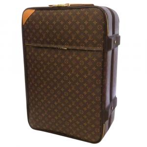 Louis Vuitton Brown Monogram Canvas Pegase 65 Suitcase Bag