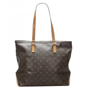 Louis Vuitton Brown Monogram Canvas Cabas Mezzo Bag