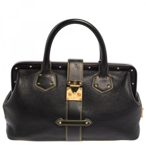 Louis Vuitton Black Suhali Leather Lingenieux PM Bag