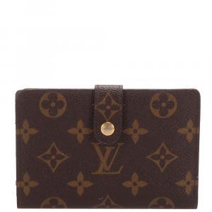 Louis Vuitton Brown Monogram Canvas Viennois Continental Wallet