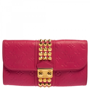 Louis Vuitton Pink Monogram Leather Courtney Clutch