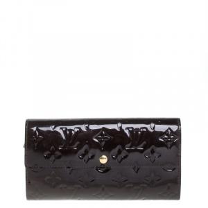 Louis Vuitton Terre D'Ombre Monogram Vernis Sarah Wallet
