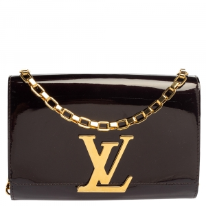 Louis Vuitton Rouge Fauviste Patent Leather Chain Louise Bag