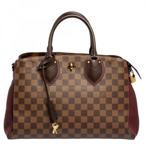 Louis Vuitton Bordeaux Damier Ebene Canvas and Taurillon Leather Normandy Bag