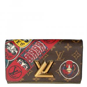 Louis Vuitton Monogram Canvas Kabuki Epi Twist Wallet on Chain