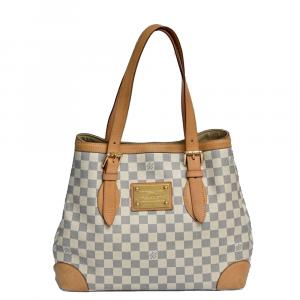 Louis Vuitton White Damier Azur Canvas Hampstead MM Bag