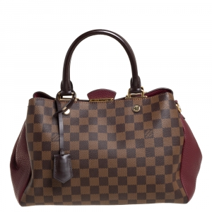 Louis Vuitton Bordeaux Damier Ebene Canvas Brittany BB Bag