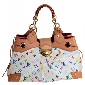 حقيبة لوي فيتون ارسولا كانفاس مونوغرامي متعددة الألوان بيضاء