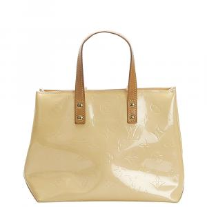 Louis Vuitton Cream Monogram Vernis Reade PM Bag