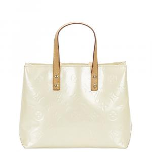 Louis Vuitton White Monogram Vernis Reade PM Bag