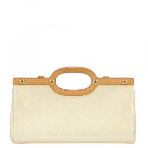 Louis Vuitton Cream Monogram Vernis Roxbury Drive Bag
