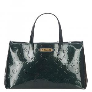 Louis Vuitton Green Monogram Vernis Wilshire PM Bag