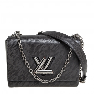 Louis Vuitton Black/Grey Epi Leather Twist MM Bag