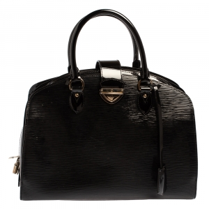 حقيبة لوي فيتون بونت نيوف جي إم جلد إيبي أسود اليكتريك