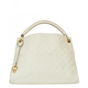 Louis Vuitton White Leather Artsy Shoulder Bag