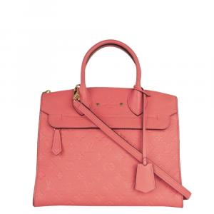 Louis Vuitton Pink Leather Pont Neuf Shoulder Bag