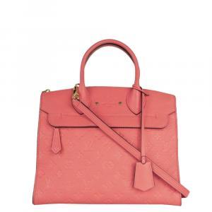 Louis Vuitton Pink Leather Pont Neuf Shoulder Bag