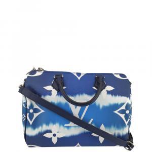Louis Vuitton Blue Canvas Speedy Escale Shoulder Bag