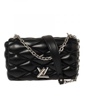 Louis Vuitton Black Quilted Leather GO-14 Malletage Mini Bag