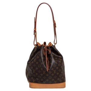Louis Vuitton Brown/Tan Coated Canvas And Leather NOÉ Bucket Bag