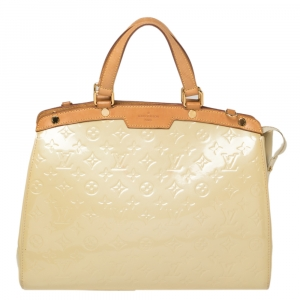 Louis Vuitton Citrine Monogram Vernis Brea GM Bag