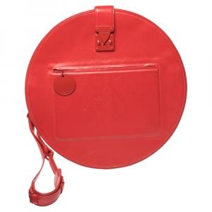 Louis Vuitton Red Monogram Mat Leather Op Art Round Bag
