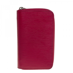 Louis Vuitton Fuchsia Epi Leather Zippy Wallet