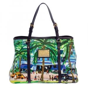 Louis Vuitton Canvas and Leather Trim Limited Edition Escale Ailleurs Cabas PM Bag