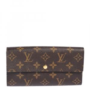 Louis Vuitton Monogram Coated Canvas Sarah Wallet