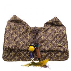 Louis Vuitton Limited Edition Coconut Monogram Metisse African Queen Clutch