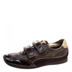 حذاء رياضي لوي فيتون سبيدينغ كانفاس بني مونوغرامي وسويدي بلازق فولكيرو مقاس 39.5