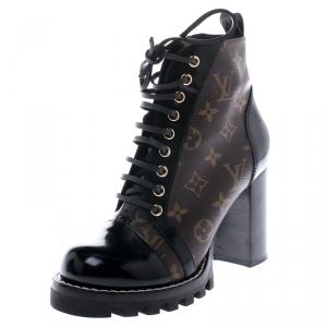 Louis Vuitton Monogram Canvas Star Trail Ankle Boots Size 38